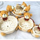 28601-small ruchworked baskets with bear