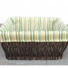 34443 willow baskets with lining and brown colour
