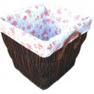 34439 willow deeped baskets with lining and chocolater colour