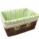 34436 willow baskets with lace lining