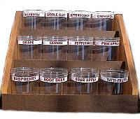 Wooden Display Rack with 12 Display Containers