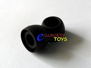 3 pair Black Small Replacement Ear Buds Gels Tips Sony, Philips, Panasonic, Sennheiser, Griffin