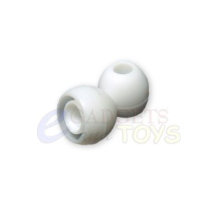 3 pair White Small Replacement Silicone Ear Buds Gels Tips for Monster Diddybeats Heartbeats
