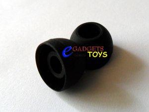 3 pair Black Medium Replacement Silicone Ear Buds Gels Tips for Zune Premium Earphones