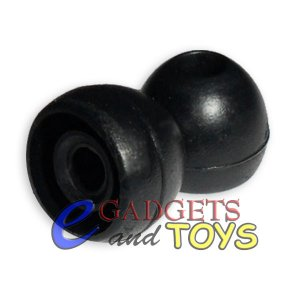 3 pair Black Medium Shure E2C E2G i2c SCL2 Replacement Ear Buds Tips Gels