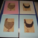 Chicken Rooster Greeting Cards set AD6