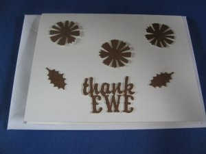 Thank EWE  handmade Greeting Card T1