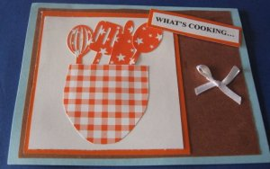 What's Cooking handmade Greeting Card M2