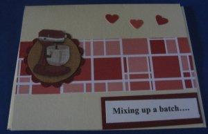Mixer Get Well  Handmade Greeting Card G3
