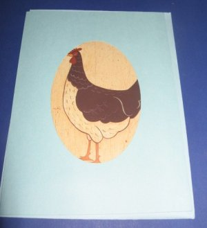 Way to Go Chicken Hen handmade greeting card M12