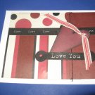 Love You handmade greeting card M20