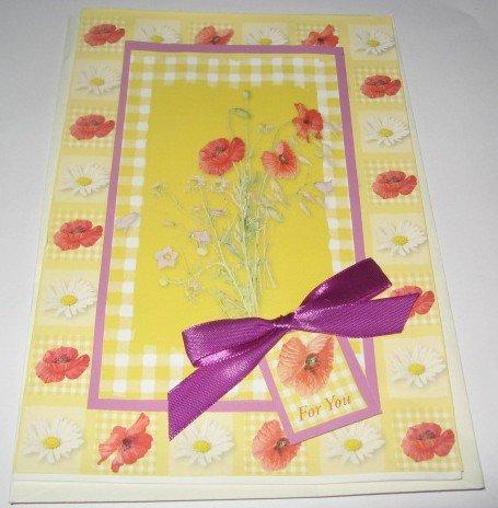 Birthday For you Flowers  Handmade Greeting Card B20