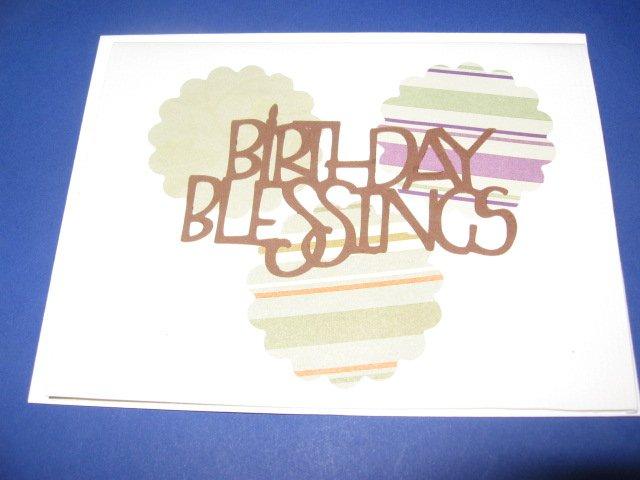 Birthday BlessingsThree Circles Handmade Greeting Card B27