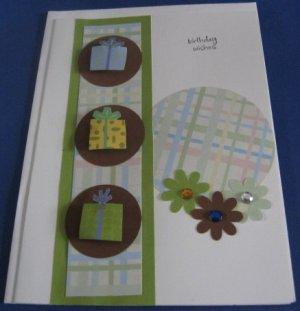 Birthday Wishes presents Handmade Greeting Card B34