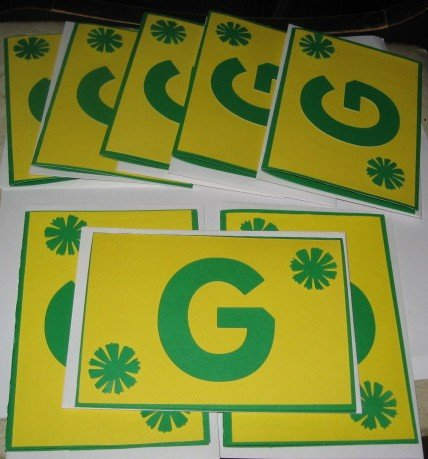 8 Green Bay Packers Handmade Green Note Cards N1
