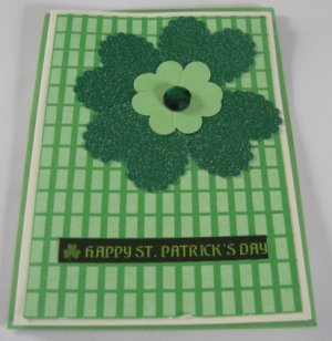 St Patrick's Day Handmade Flower Card SP1