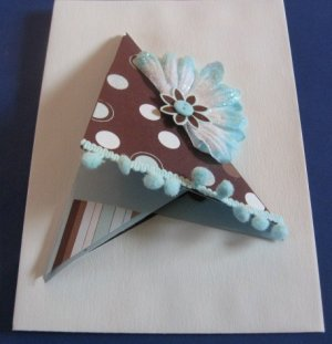 Triangle shaped flower Get Well Soon  Handmade Greeting Card G6