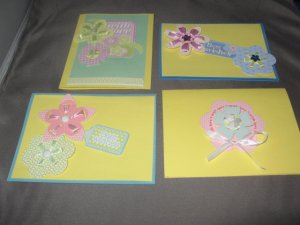 Best wishes handmade greeting card assortment lot of 4 A20