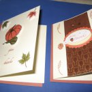 Two Handmade Give Thanks Thanksgiving Card Greeting Cards THG4