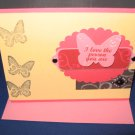 Valentine I love the person you are butterflies handmade Greeting Card V2