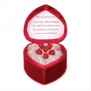 Glass Roses Bouquet/Heart Box