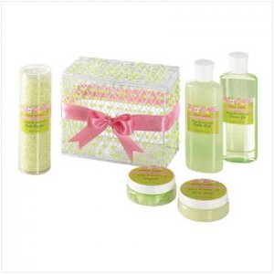 SWEET PEA BATH SET-BEADED BOX # 36377