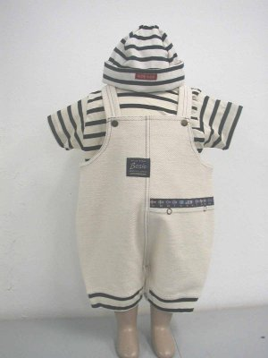 End of Summer SALE item- SERPI Overall Set- 12M, Imported from France- FREE SHIPPING