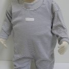 SUCETTE Antimicrobial Cotton Overall Set- 3M, Gray. Imported.