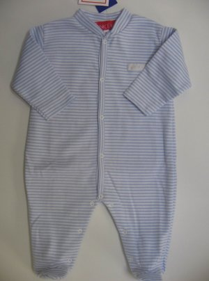 SUCETTE Antimicrobial Cotton PAJAMA- 0M, Sky blue, Imported.