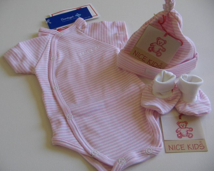 SUCETTE Antimicrobial Cotton Baby Essential Combo- Sky blue, 0M. Imported.