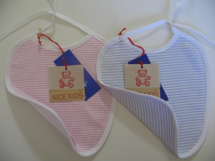 SUCETTE Antimicrobial Cotton Bib, Sky blue. Imported.