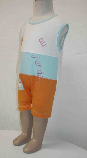End of Summer SALE item- JARDIN onesies- 3M, Imported from France, FREE SHIPPING