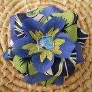 Blue flower with tropical print and undersea charm