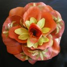 Terra cotta rose with tropical pineapple print
