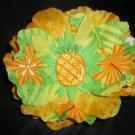 Yellow flower w/ tropical print & pineapple center