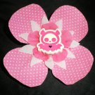 Pink flower w/ pink polka dot print & bat center