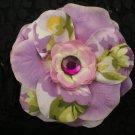 Lavender rose w/ floral print & gem center