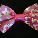 Pink tropical print bow
