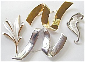 4 Big Bright Beautiful Brooches 2 Signed