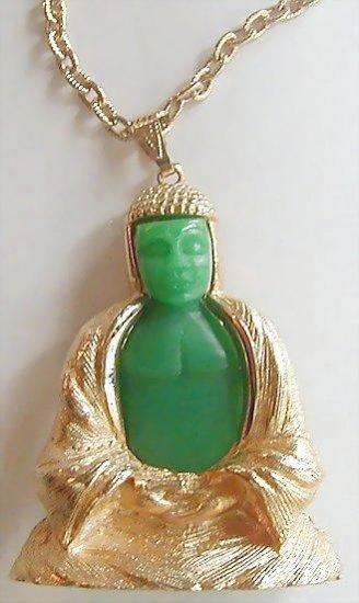 Vintage Buddha Pendant Necklace
