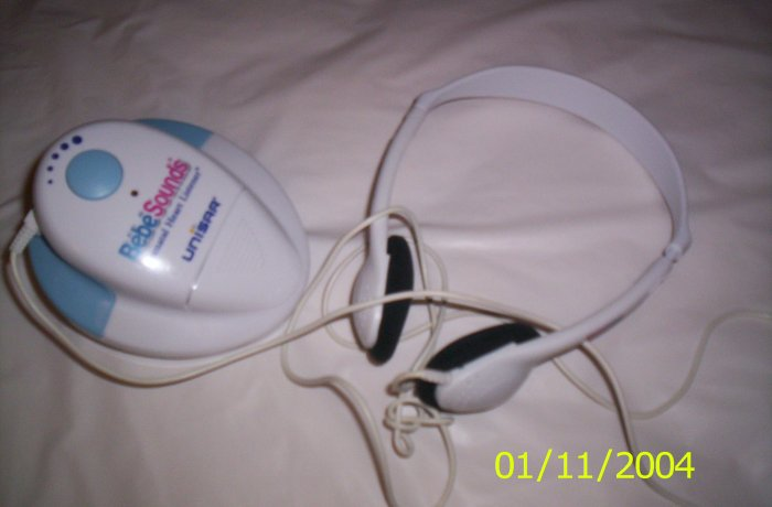 *BEBE SOUNDS* PRENATAL HEART LISTENER & HEADPHONES!!