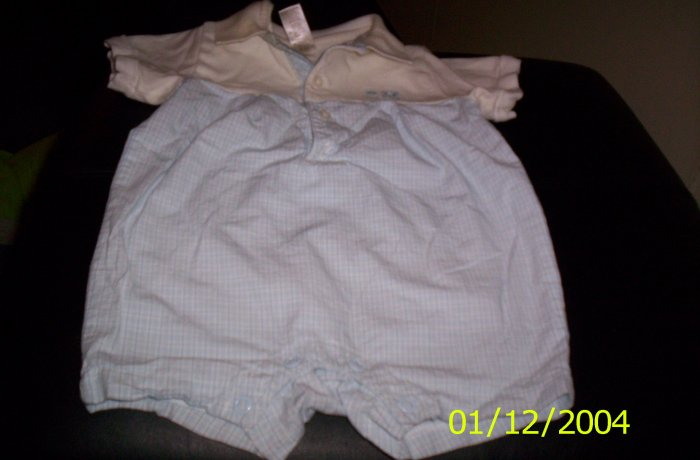 George 3-6 months Outfit Blue and White