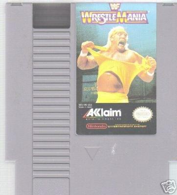 NES Game Wrestlemania Rare Vintage Retro