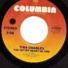 COLUMBIA 3-10202 TINA CHARLES You Set my Heart On Fire