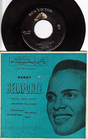 M- EPA-412 PS+ 45 HARRY BELAFONTE Shenandoah/Man Smart