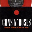 NM PS+ 45 ORANGE GUNS N ROSES ~ Since I Dont Have You