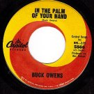CAPITOL 5566 BUCK OWENS The Palm Of Your Hand ~ Welfare