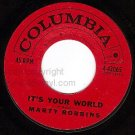 NM COLUMBIA MARTY ROBBINS 42065 Its Your World/You Told