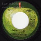 1828 45 + PS GEORGE HARRISON What is Life/Apple Scruffs