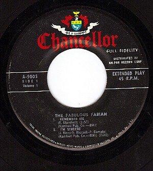 CHANCELLOR EP A-5005 45 FABULOUS FABIAN ~ 4 Tracks